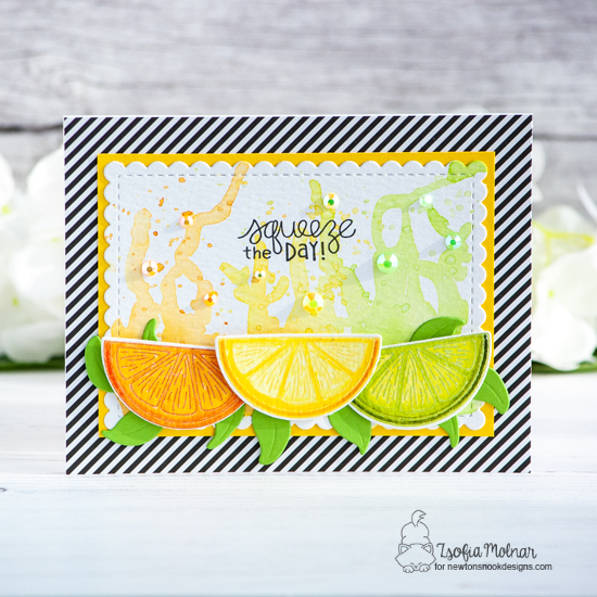 Lemon Twist, Two Ways Card by Zsofia Molnar | Lemon Twist Stamp Set by Newton's Nook Designs #newtonsnook #handmade