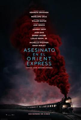 Póster en español de 'Asesinato en el Orient Express'