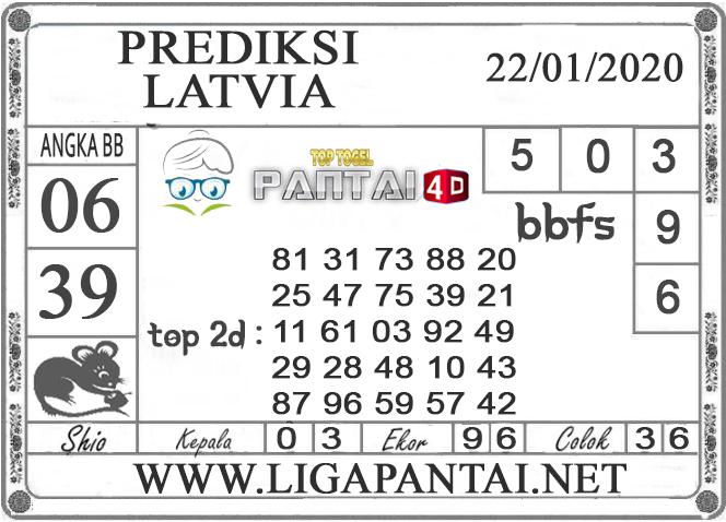 PREDIKSI TOGEL LATVIA PANTAI4D 22 JANUARI 2020