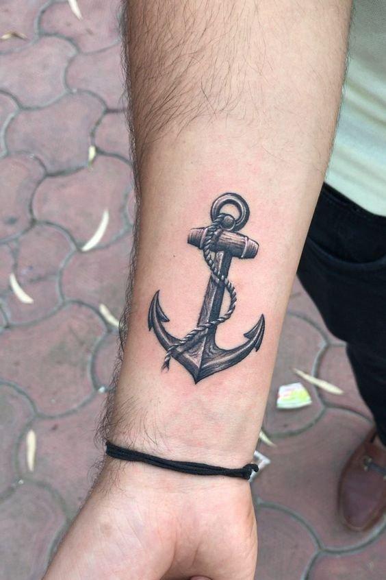 Wrist Anchor Tattoo