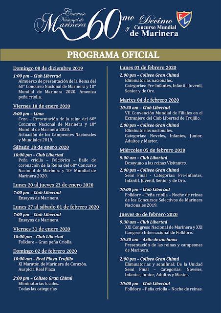 programa oficial concurso de marinera