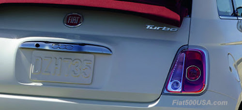 2018 Fiat 500 Turbo Badge