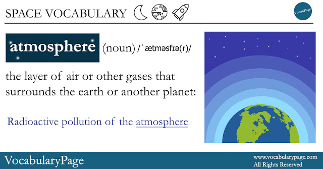 Space Vocabulary - atmosphere