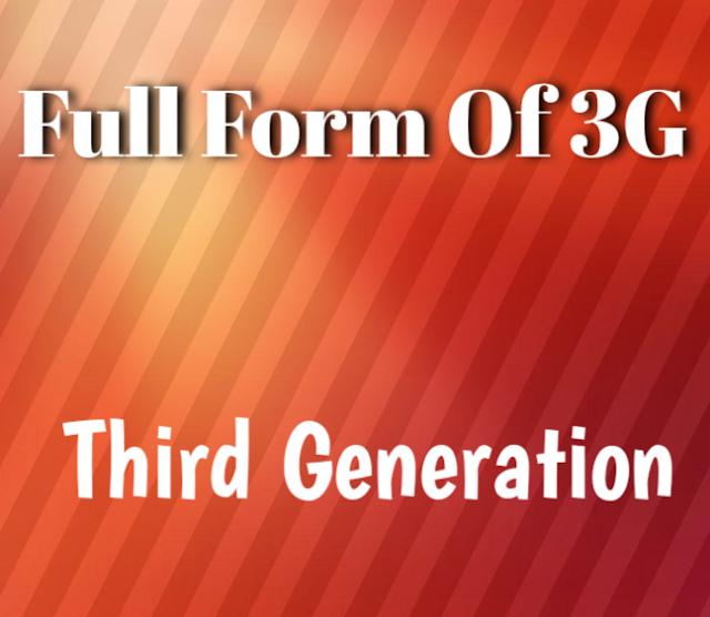 3g full form