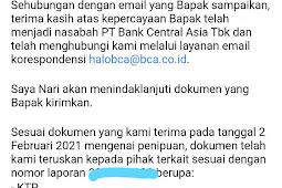 Cara lengkap Blokir Rekening Penipuan melalui BCA.