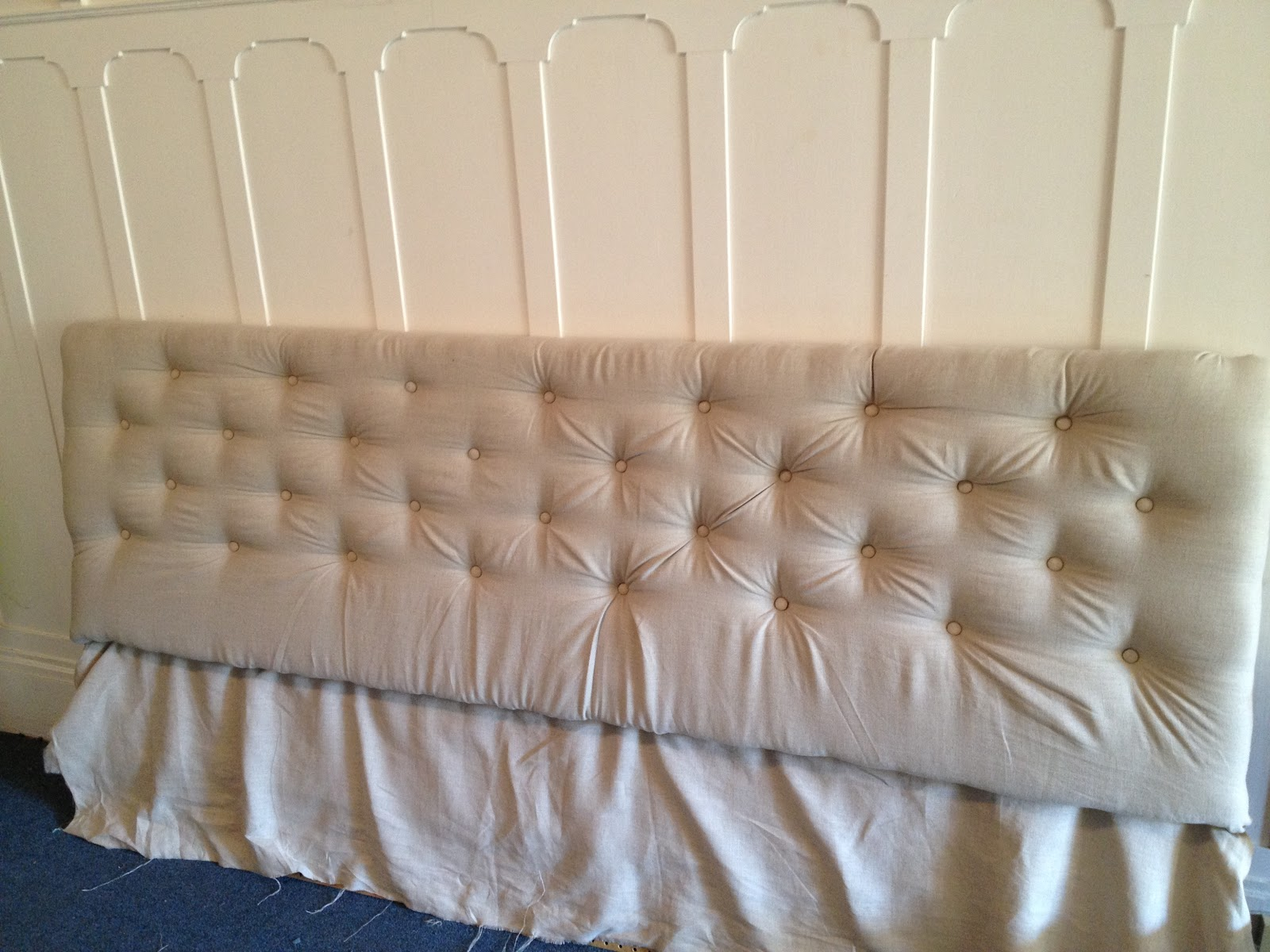 Good luck with that how to make a tufted headboard - How to make a bed headboard ...