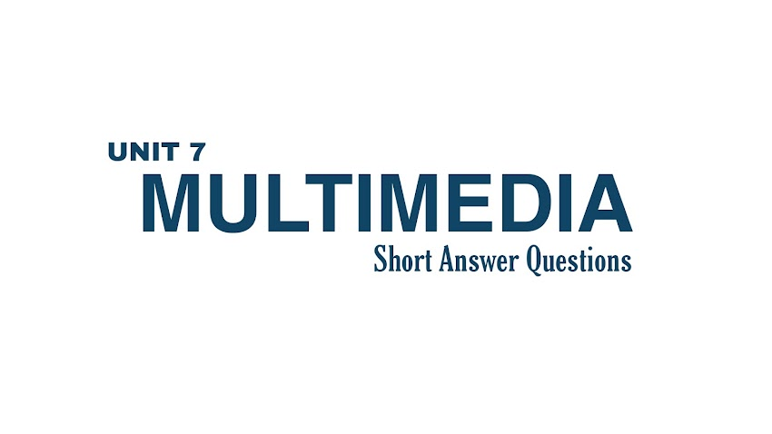 Computer - Multimedia | Short Answer Questions ( Grade XII)