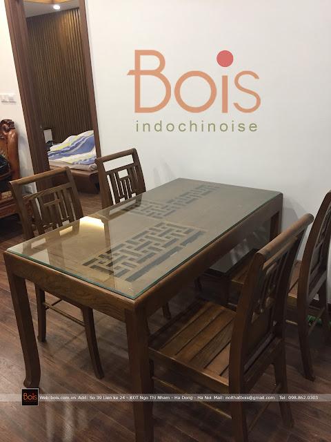 bàn ăn gỗ tự nhiên bois indochine