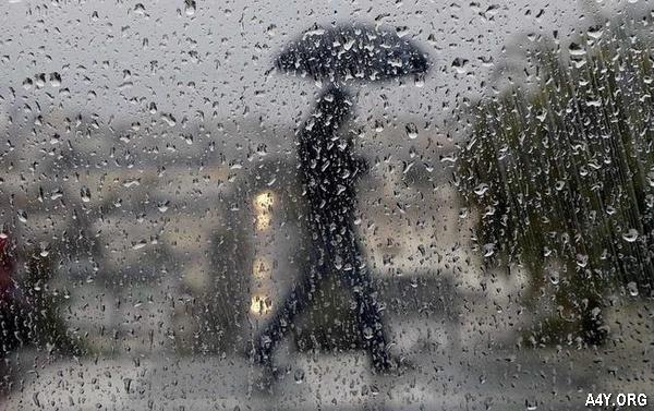 người đi ngoài mưa
