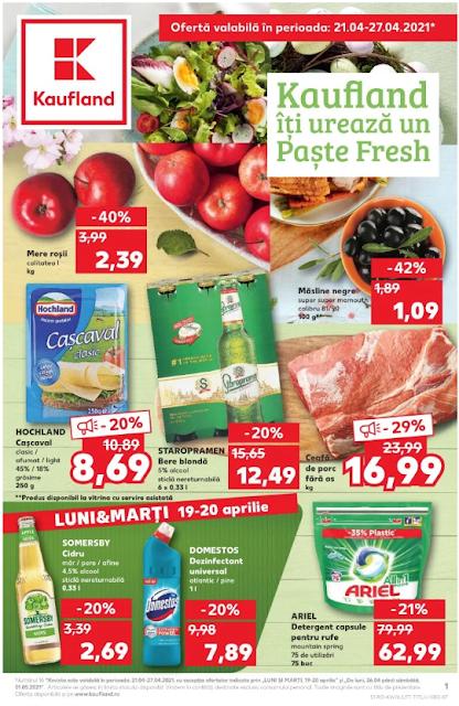 Kaufland Promotii + Catalog-Brosura 21-27.04 2021 →  Paste FRESH | Pana la -50% Oferte Kaufland Card