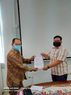 Penerimaan surat Mandat dari Ketum APKLINDO di Jakarta (17/7/2020).