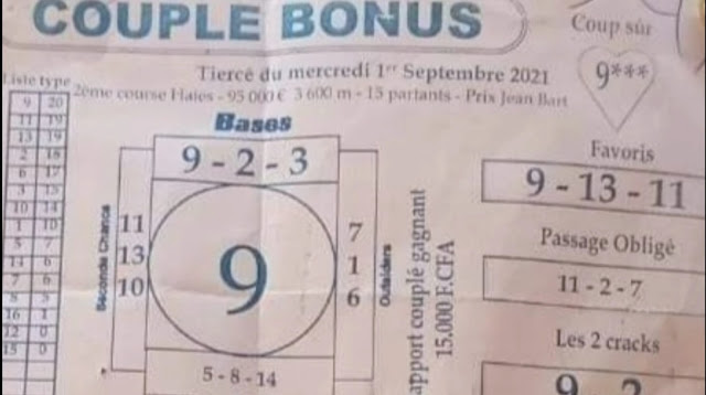 Pronostics quinté pmu Mercredi Paris-Turf-100 % 01/09/2021