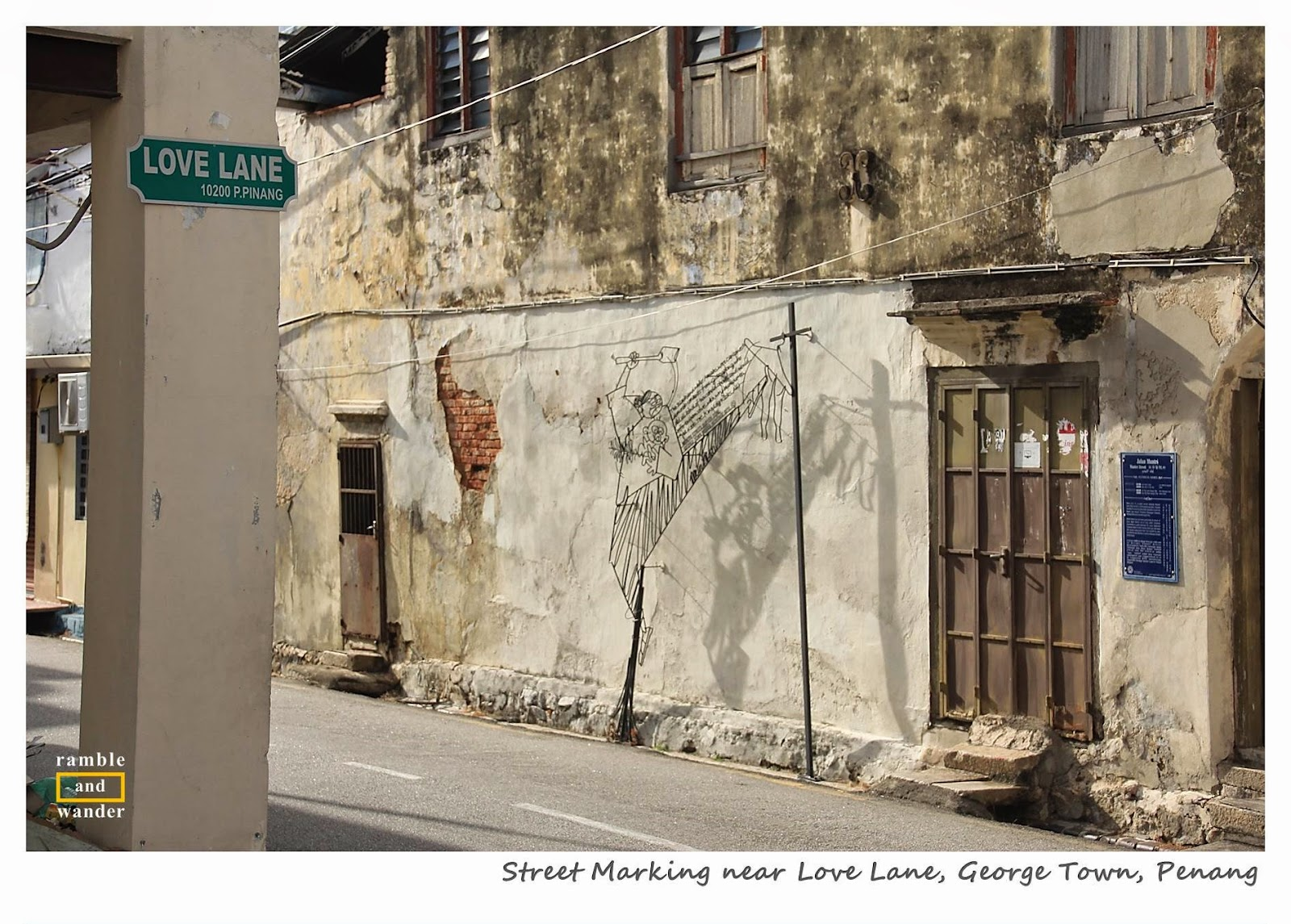 George Town Penang Street Art - Ramble and Wander
