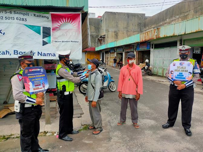 Masyarakat Abai Memakai Masker, Satlantas Polres Kotim Kembali Lakukan Patroli Yustisi