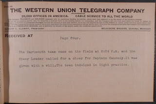 Telegram from start of game