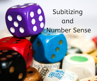 Teach Magically Subitizing and Number Sense Dice Picture