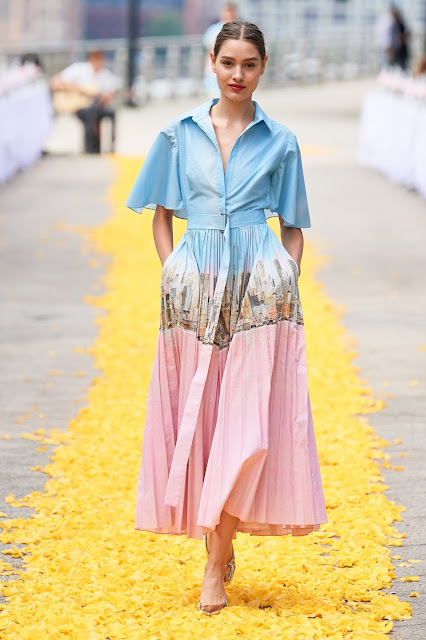 Printed button down dress for spring and summer