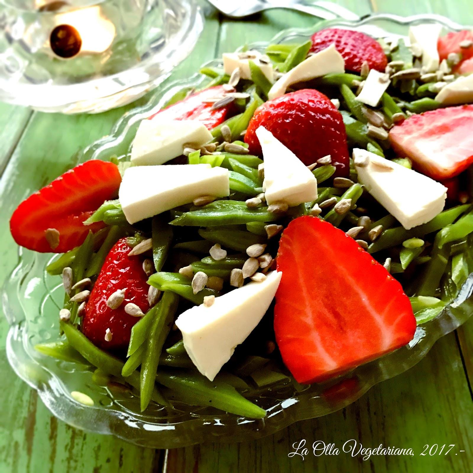 La olla vegetariana ensalada de jud as verdes con fresas - Judias verdes en olla express ...