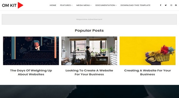 OmKit Blogger Template Free Download