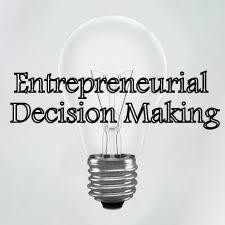 Lightbulb, making entrepreneurial decisions