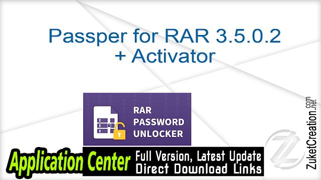 Passper for RAR 3.5.0.2 + Activator