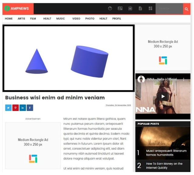 Free AMP Themes Download for Blogger,  Blogger AMP Templates