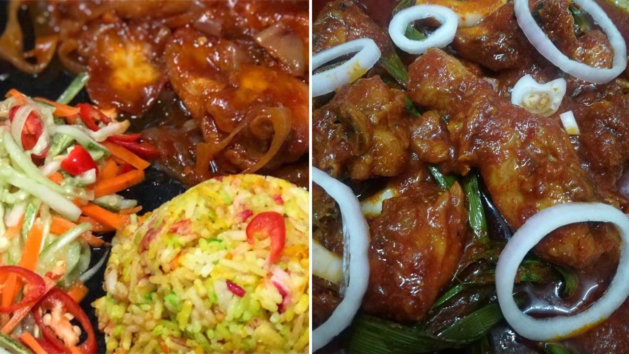 Resepi Nasi Hujan Panas Dengan Ayam Masak Merah Dan Acar Timun