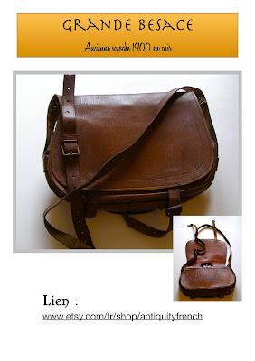 messenger bag,satchel bag,vintage bag,cuir épais,cuir patiné,besace vintage 1900,sacoche ancienne