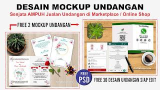 Free Desain Mockup Undangan
