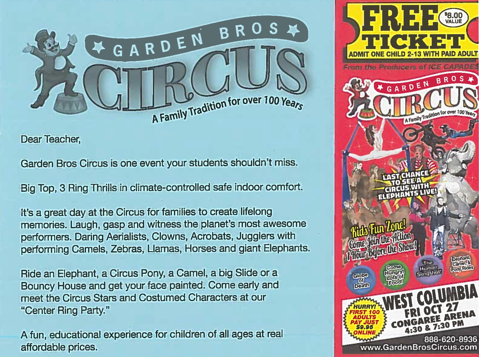 At the view daily free garden bros circus tickets - Garden bros circus ticket prices ...