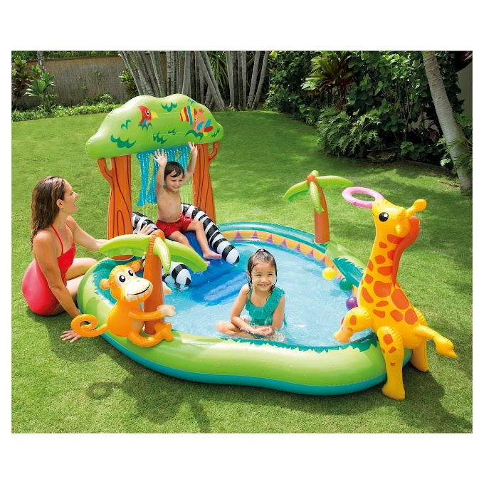 """Target - Intex 85"""" X 74"""" X 49"""" Jungle Play Center Inflatable Pool with Sprayer"""