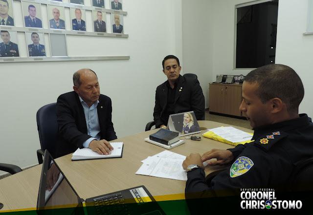 Deputado Coronel Chrisostomo empenha apoio para a construção do 5ª Batalhão da Policia Militar na capital