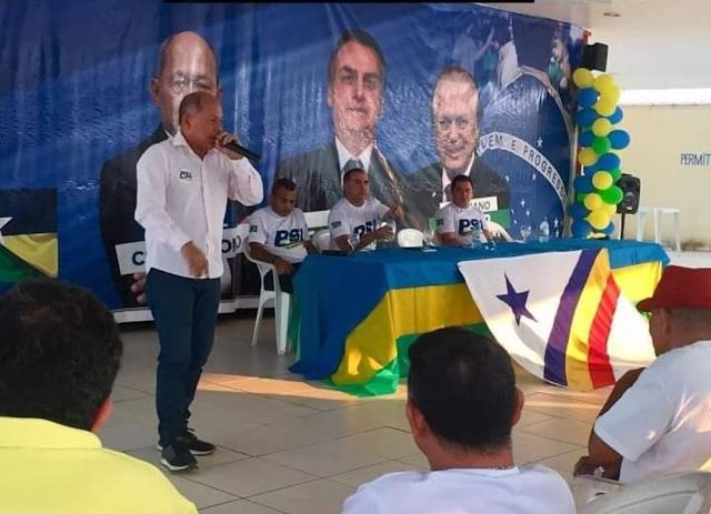 Deputado Coronel Chrisostomo participação de encontro do PSL em Guajará-Mirim