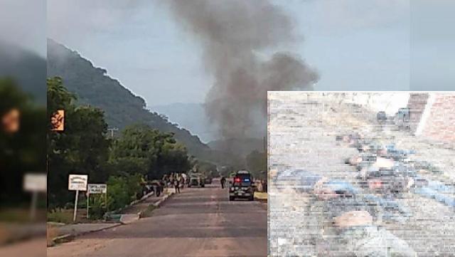 El CJNG corona en Michoacán en enfrentamientos  masacra a 27 Sicarios de Cárteles Unidos , se habla que a 8 los decapitaron como trofeo