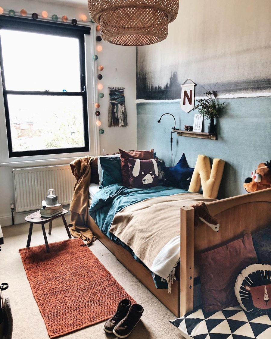 wystrój wnętrz, wnętrza, urządzanie domu, dekoracje wnętrz, aranżacja wnętrz, inspiracje wnętrz,interior design , dom i wnętrze, aranżacja mieszkania, modne wnętrza, boho, boho style, styl skandynawski, scandinavian style, styl eklektyczny, skandynawski pokój dla dziecka, pokój chłopca, kids room