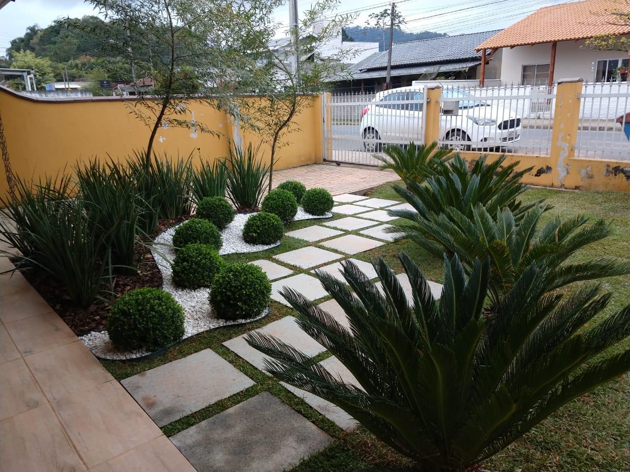 [ANTES E DEPOIS] Projeto Paisagismo e Jardinagem Jardim Maria em Indaial