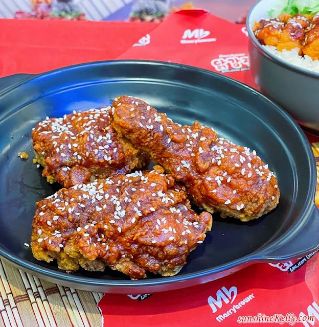 Marrybrown GangJeong Chicken Korean Meal, Marrybrown Malaysia, GangJeong Chicken, Marrybrown Korean Meal, Gangjeong Burger, Gangjeong Rice, Food