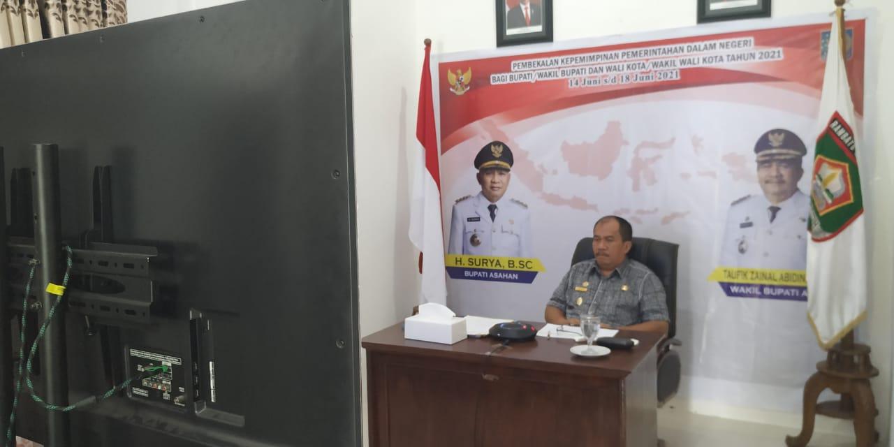 Wakil Bupati Asahan Ikuti Pembekalan Kepemimpinan Pemerintahan Dalam Negeri Dengan Sistem Gabungan Tatap Muka dan Tatap Maya
