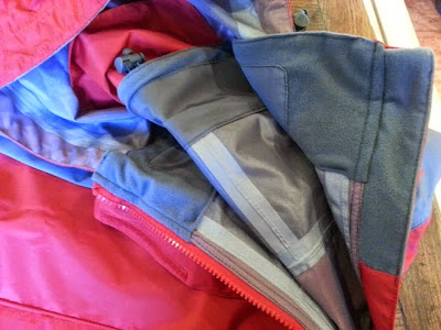Trespass Ladies Raincoat Review - close up inside neckline