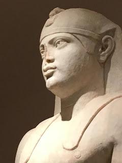 Statue from Herodias Atticus' mini-Nile River installment near Marathon, outside of Athens.