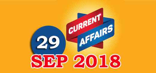 Kerala PSC Daily Malayalam Current Affairs 29 Sep 2018