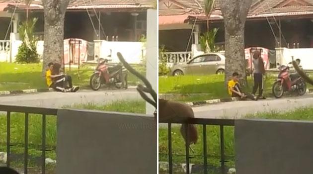 Video Eh Hangpa Buat Apa Ni Meraba Belakang Pasangan Remaja Kantoi Cuba Berasmara Di Tepi Jalan Taman Palma The Reporter