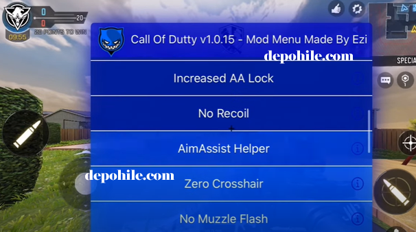 Call of Duty Mobile 1.0.15 iOS Ezi Menu Aim, ESP Hilesi (Iphone)