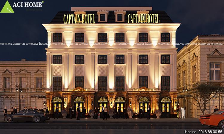 Thiết kế khách sạn Captain Hotel 5 tầng tại Hạ Long - Ảnh 7