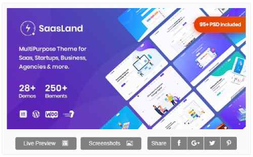 SaasLand v2.0.6 - MultiPurpose Theme for Saas & Startup