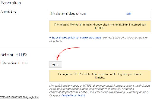 Bagaimana Cara Aktifkan HTTPS untuk blogspot ?