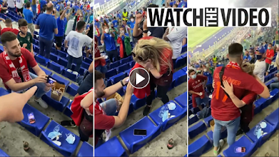 Turkey fan proposes to girlfriend at Euro 2020 opener vs Italy in Rome