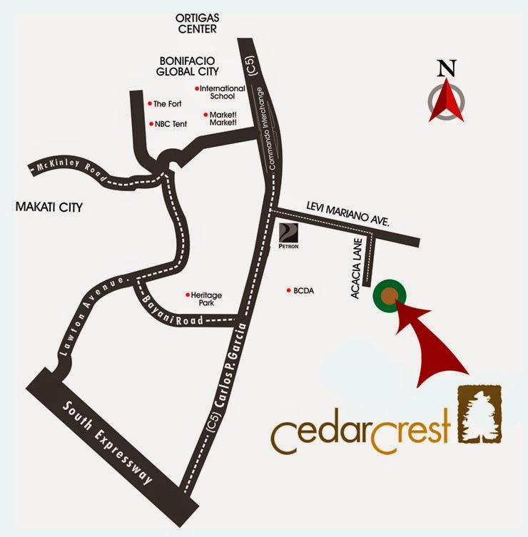 Cedar Crest Location Map