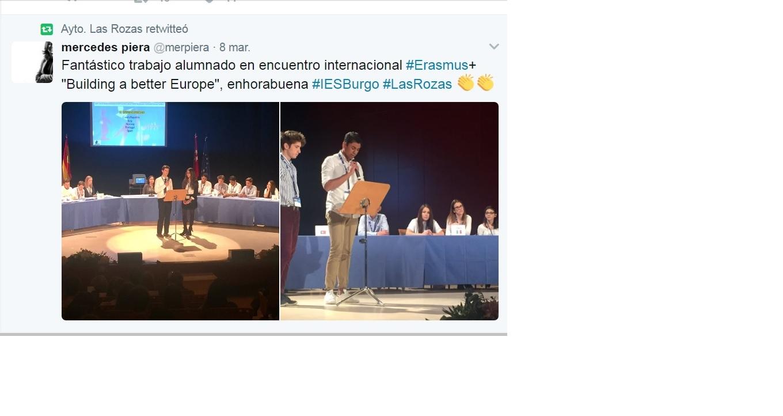 Erasmus ies el burgo de las rozas difusi n en twitter for Mudanzas en las rozas