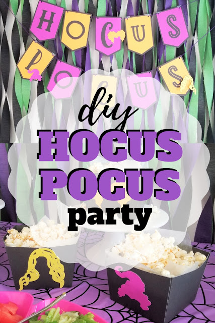 Have your own Halloween gathering with the Sanderson Sisters using these fun and free Hocus Pocus party ideas.
